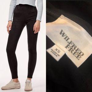 Pants - WILFRED FEEL Daria black faux suede leggings